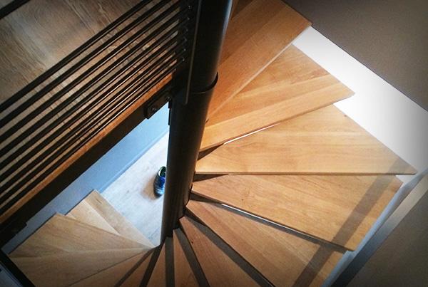 Escalier Acier + Chêne